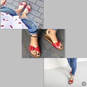Birkenstock Red Madrid Single Strap Sandals